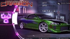 purple mitsubishi eclipse fast and furious mitsubishi eclipse gsx need for speed carbon mod
