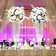 Crystal Wedding Centerpieces Wholesale by Tall Crystal Pillars Centerpieces 897 Wedding Decoration Table