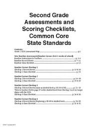 second grade assessments and scoring checklists common core state
