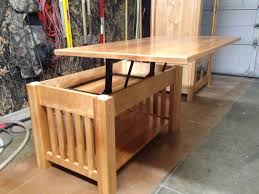 handmade mission coffee table with sliding top tables beautiful