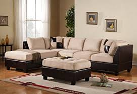 Leather Beige Sofa by Amazon Com Case Andrea Milano 3 Piece Microfiber Faux Leather