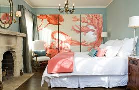 Hot Color Trends Coral Teal Eggplant And More - Coral color bedroom