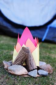 cardboard campfire cardboard tubes and construction paper make a