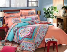 Colored Down Comforters Bedding Set Beautiful Bohemian Comforter With Luxury Colors For