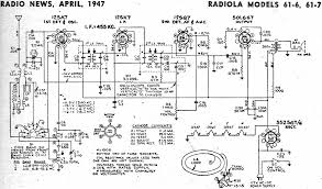 Crosley Radio Parts Radiola Models 61 6 61 7 Schematic U0026 Parts List April 1947 Radio