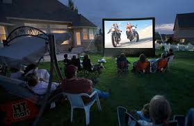 Backyard Home Theater 16 Ft Backyard Theater System Home Theater Mart