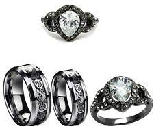 his and hers engagement rings sets his and hers wedding bands ebay