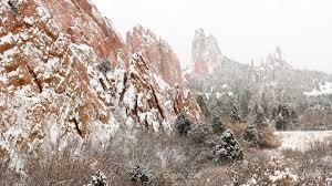 garden of the gods state park in winter colorado springs