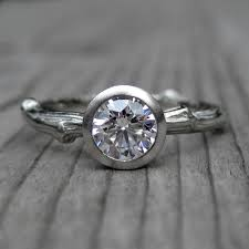 5 carat engagement ring cut forever brilliant moissanite twig engagement ring 5
