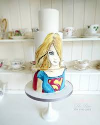 terrific hand painted supergirl cake supergirl cake and amazing