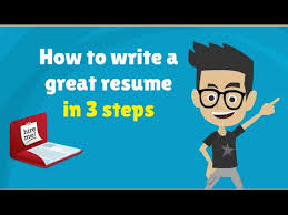 Steps To Writing A Good Resume How To Write A Resume Cv In 3 Steps 3 Tips To Make A Good Resume
