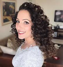 black tie event hairdos 20 soft and sweet wedding hairstyles for curly hair 2018