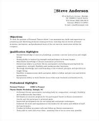 personal trainer resume objective creative fitness resumes fitness free resume images