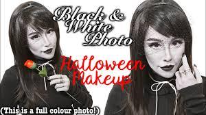 Halloween Black And White Makeup by Black U0026 White Photo Halloween Makeup Tutorial Youtube