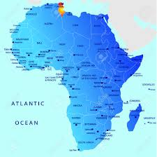 tunisia on africa map political map of africa tunisia royalty free cliparts vectors