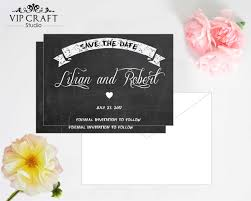 Vip Invitation Cards Chalkboard Save The Date Cards Set Of 10 Vip Craft Studio