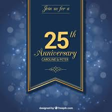 twenty fifth anniversary twenty fifth anniversary ribbon vector free