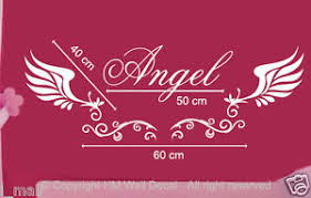 customise name with wings wall sticker for some one you