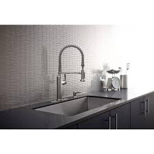 stainless kitchen faucets kohler sous pro style single handle pull sprayer kitchen