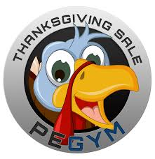 last day thanksgiving week sale pegym