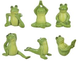 6 ganz mini frog figurines figure statues miniature small 1 1 8