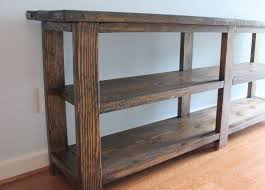 Diy Console Table Our Weekend Diy Rustic Console Table Home Sweet Ruby