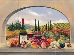 hand made late harvest tile mural by murals by monti custommade com