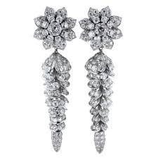dimond drop european cut diamond drop earrings for sale at 1stdibs