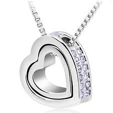swarovski platinum necklace images Platinum silver plated swarovski elements crystal violet crystal jpg