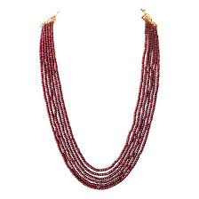 pink coloured beads necklace images Ruby necklaces buy natural ruby jewelry online at discount price jpg
