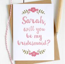 bridesmaid cards personalised be my bridesmaid card by kimberley studio