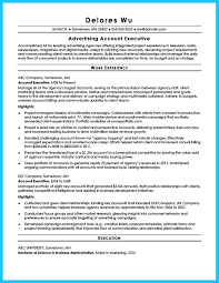 Account Executive Resume Resume Format Account Executive