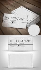 Simple Business Cards Templates 30 Minimalistic Business Card Designs Psd Templates Design Modern