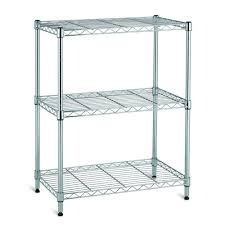 Wire Shelf Cart 3 Shelf 30 In H X 24 In W X 14 In D Wire Unit In Chrome Eh