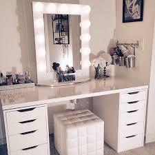 meuble chambre ado coiffeuse meuble chambre rangement bijoux maquillage miroir lumière