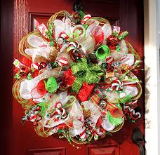 lighted christmas deco mesh wreath deco mesh christmas wreath