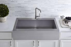 Stainless Sinks Kitchen K 3942 1 Na Kohler Vault Top Mount Single Bowl Stainless Steel