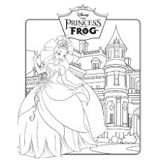 Top 30 Free Printable Princess And The Frog Coloring Pages Online Princess And The Frog Colouring Pages