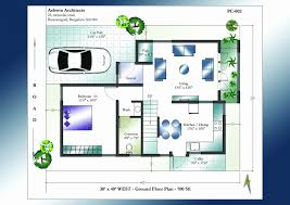 40x60 floor plans x house plans east facing floor india with garden south duplex for