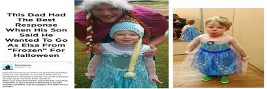 halloween costumes for dad and son viral father and son go as queen elsa and princess anna for