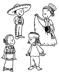 mexican coloring pages mexican dress coloring pages color luna