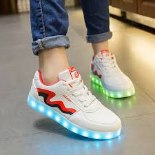ladies light up shoes 2017 women led shoes for adults luxury brand light up shoe