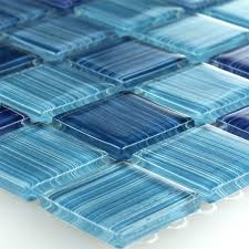 mosaic tiles glass striped blue mix tm33256m