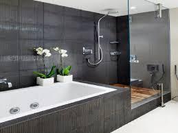 bathroom grey shower curtain great grey bathroom ideas modern