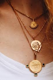 necklace pendant coin images We 39 re totally coveting coin necklaces jpg%3