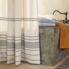 Stripe Shower Curtains Coyuchi Rustic Linen Shower Curtain Organic Shower Curtains