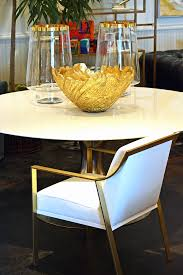 Gold Dining Chairs Modern Metal Framed Arm Dining Chair Mecox Gardens
