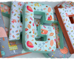 fabric letter wall letter nursery decor kids room initial