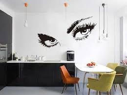 living room wall stickers hepburn s eyes living room wall art
