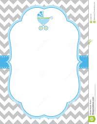 Blank Invitation Cards Baby Boy Invitation Card Stock Vector Image 41927418